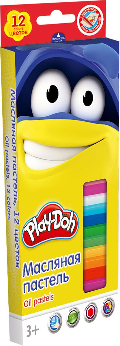 Play-Doh Краска пастель масляная 12 цветовFS-00897Масляная пастель Play-Doh легко ложится на бумагу с большей цветовой плотностью и создает мягкие штрихи. Она не выгорает на солнце, не темнеет и не трескается. Цвета легко смешиваются между собой. Так же следы на руках и одежде от масляной пастели хорошо смываются обычной водой. Размер 1 мелка: длина 7,2 см, диаметр 1,1 см. Каждый мелок обклеен бумажной оберткой, Шестиугольная форма. Масляная пастель абсолютно безопасна для детей и соответствует строжайшим европейским стандартам.