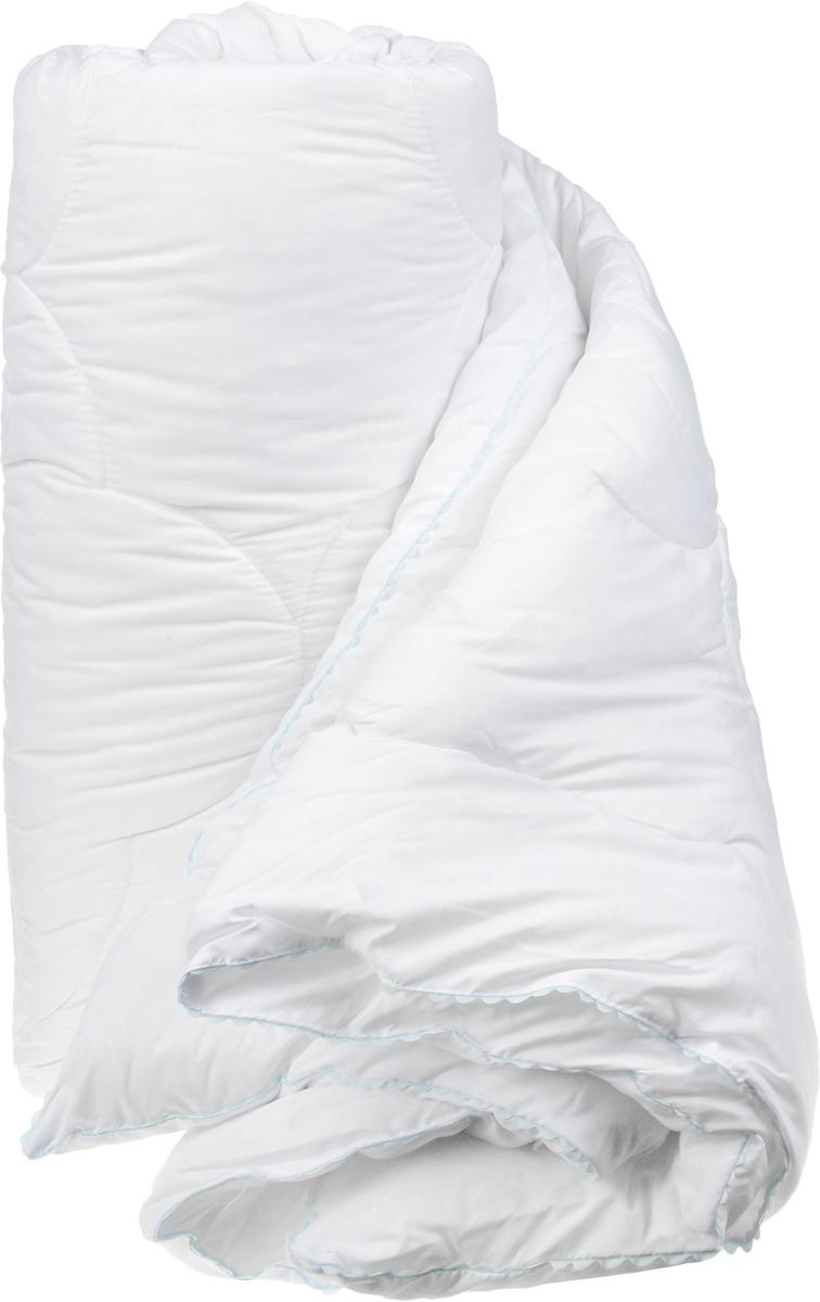 Одеяло теплое Легкие сны Перси, наполнитель: лебяжий пух, 200 х 220 смS03301004Теплое одеяло Легкие сны Перси поможет расслабиться, снимет усталость и подарит вам спокойный и здоровый сон. Полиэфирное высокосиликонизированное микроволокно лебяжий пух - это искусственный аналог натурального лебяжьего пуха. По потребительским свойствам он не отличается от своего натурального аналога, он такой же легкий, пышный и теплый. Чехол одеяла, выполненный из микрофибры (100% хлопок), оформлен тиснением в виде изящных цветов. По краю изделие украшено ажурным кантом светло-голубого цвета.Одеяло простегано. Стежка надежно удерживает наполнитель внутри и не позволяет ему скатываться.Теплое одеяло Легкие сны Перси - идеальный выбор для спальни в светлых тонах.Можно стирать в стиральной машине.