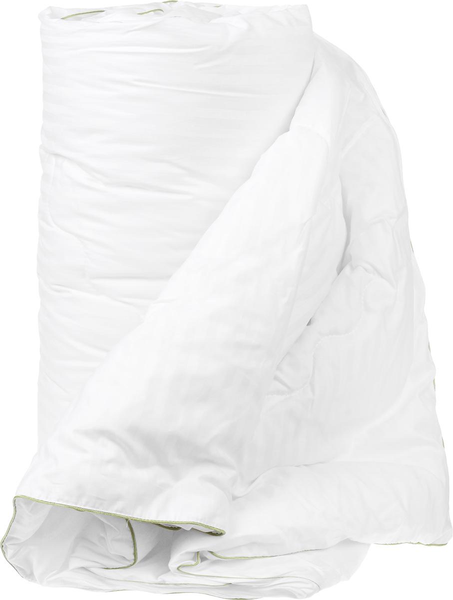 Одеяло легкое Легкие сны Бамбоо, наполнитель: бамбуковое волокно, 172 х 205 см96281375Легкое одеяло Легкие сны Бамбоо с наполнителем из бамбука расслабит, снимет усталость и подарит вам спокойный и здоровый сон. Волокно бамбука - это натуральный материал, добываемый из стеблей растения. Он обладает способностью быстро впитывать и испарять влагу, а также антибактериальными свойствами, что препятствует появлению пылевых клещей и болезнетворных бактерий. Изделия с наполнителем из бамбука легко пропускают воздух, создавая охлаждающий эффект, поэтому им нет равных в жару. Они отличаются превосходными дезодорирующими свойствами, мягкие, легкие, простые в уходе, гипоаллергенные и подходят абсолютно всем. Чехол одеяла выполнен из сатина (100% хлопок). Одеяло простегано и окантовано. Стежка надежно удерживает наполнитель внутри и не позволяет ему скатываться. Одеяло можно стирать в стиральной машине.