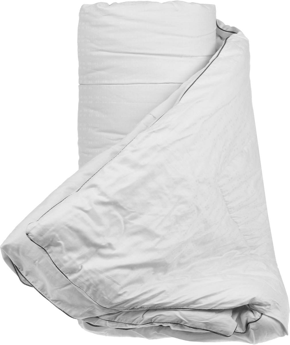 Одеяло теплое Легкие сны Элисон, наполнитель: лебяжий пух, 172 х 205 смS03301004Теплое одеяло Легкие сны Элисон поможет расслабиться, снимет усталость и подарит вам спокойный и здоровый сон. В качестве наполнителя используется синтетический сверхтонкий и практически невесомый материал, названный лебяжьим пухом. Изделия с наполнителем из искусственного пуха легкие, мягкие и не вызывают аллергии. Чехол изделия, выполненный из белоснежного сатина (100% хлопок), оформлен оригинальным тиснением. Одеяло простегано и отделано по краю атласным кантом серого цвета. Одеяло с таким наполнителем практично, легко стирается и быстро сохнет, сохраняя свои первоначальные свойства. Можно стирать в стиральной машине.