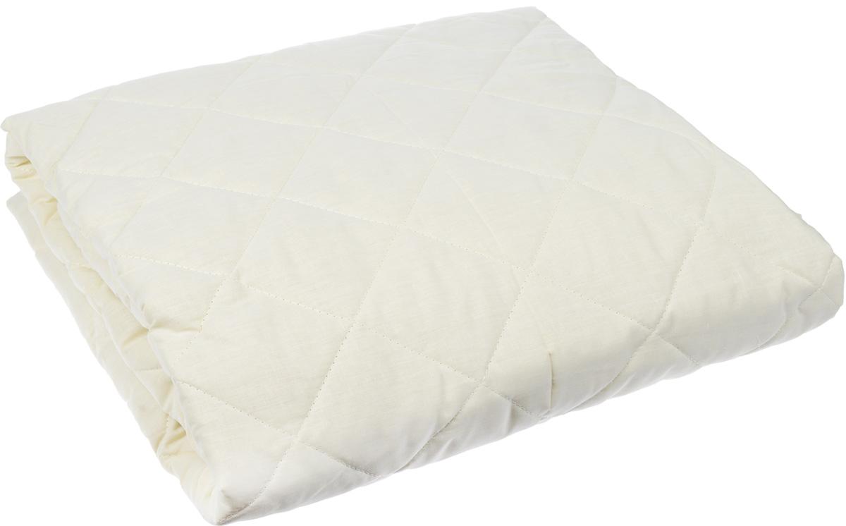 Наматрасник Легкие сны, наполнитель: овечья шерсть, 160 х 200 смALPS I 11436/3С ANTIQUEНаматрасник Легкие сны защитит ваш матрас от загрязнений, влаги и пыли, значительно продлевая срок его службы. В качестве наполнителя используется овечья шерсть. Шерсть овцы, благодаря волнистой структуре, хорошо сохраняет тепло и держит форму. Наматрасник, наполненный этим волокном, очень мягкий, легкий и обладает энергетикой натурального материала. Наличие в шерсти ланолина придает изделиям лечебно-профилактические свойства. Проникая в поры кожи, животный жир способствует уменьшению болей в спине. Такой наматрасник станет находкой для людей, страдающих радикулитом. Чехол изделия пошит из поликоттона, прочного и простого в уходе материала, не теряющего своих первоначальных свойств даже при частых стирках. Чехол простеган фигурной строчкой, поэтому наполнитель равномерно распределен внутри и не скатывается. Наматрасник фиксируется по углам при помощи эластичных лент, которые прочно удерживают изделие и не позволяют ему смещаться во время сна. Рекомендуется химчистка. Плотность наполнителя: 200 г/м2.