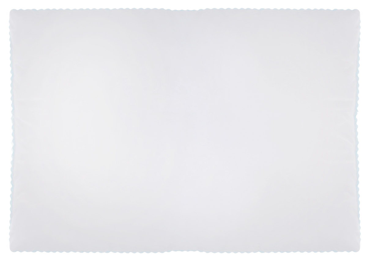 Подушка Легкие сны Перси, наполнитель: лебяжий пух, 50 х 68 см531-105Подушка Легкие сны Перси подарит вам непревзойденную мягкость и нежность, ощутите деликатную поддержку головы и шеи, дарящую легкое чувство невесомости. В качестве наполнителя используется синтетический сверхтонкий и практически невесомый материал, названный лебяжьим пухом. Изделия с наполнителем из искусственного пуха легкие, мягкие и не вызывают аллергии, хорошо пропускают воздух, за ними легко ухаживать. Важно заметить, что синтетический пух столь же легок и приятен на ощупь, что и его натуральный прототип. Чехол изделия выполнен из микрофибры (100% полиэстер) белого цвета с узорным тиснением, по краю подушки выполнена отделка зигзагообразным кантом бирюзового цвета. Подушку можно стирать в стиральной машине. Степень поддержки: мягкая.