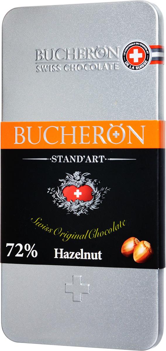 Buсheron Горький шоколад с фундуком, 100 г14 6300Горький шоколад Buсheron с фундуком имеет чуть выраженный смолянистый аромат, подтверждающий его прямое происхождение от мексиканских бобов Amazonian Forastero. Фундук усиливает сливочные нотки вкуса, делая его ярко выраженным. Орех вы найдете в каждой дольке шоколада!