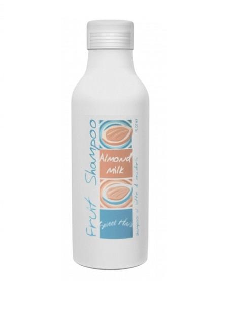 Hair Company Шампунь на основе сладкоминдального молока Sweet Hair Fruit Shampoo Almond Milk 500 мл252656/LB11650 RUSШампунь на основе миндального молочка Hair Company Sweet Hair Fruit Shampoo Almond Milk великолепно увлажняет. Мягкий и нежный, почти воздушный шампунь деликатно очищает волосы и кожу головы и идеально подходит для частого применения. Растительные протеины и экстракт миндаля, богатые витаминами А и D, придают волосам шелковистость, здоровый блеск и естественный объем. Вытяжки из ягод и листьев барбариса оказывают ярко выраженное противовоспалительное действие. Шампунь благотворно влияет на кожу головы и действует успокаивающе.