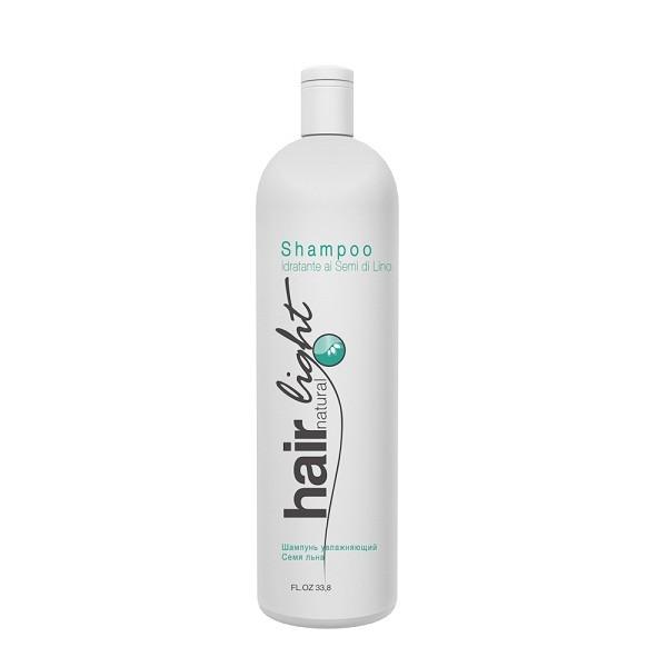 Hair Company Шампунь увлажняющий Семя льна Hair Natural Light Shampoo Idratante ai Semi di Lino 1000 млFS-00897Шампунь увлажняющий Семя льна Hair Company Hair Natural Light Shampoo Idratante ai Semi di Lino увлажняет и смягчает волосы, делая их гладкими, пластичными. Идеально подходит для длинных, химически завитых, вьющихся от природы, пористых и обесцвеченных волос. Обогащен протеинами шелка, сои и пшеницы (для укрепления), а так же маслами авокадо и жожоба (для увлажнения волос). Приглаживает чешуйки кутикул и предотвращает появление мелких, непослушно торчащих завитков.