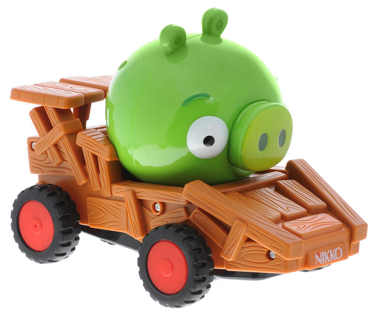 """Радиоуправляемая машинка Nikko """"Angry Birds Racer. Green Pig"""", с героями популярной серии игр для смартфонов """"Angry Birds"""" станет отличным подарком всем поклонникам этой игры! Машинка может перемещаться вперед, дает задний ход с поворотом, останавливается. Рабочая частота пульта управления 27 Mhz, 3 канала управления (А, В, С). Возможность включения/отключения музыкального оформления из оригинальной игры. Красочная машинка непременно понравится вашему малышу, а пульт управления с крупными яркими кнопками разработан специально для маленьких ручек ребенка. Для работы машинки требуются 2 батарейки типа """"AА"""" (не входят в комплект). Для работы пульта управления требуется 1 батарейка 9V типа """"Крона"""" (не входит в комплект)."""