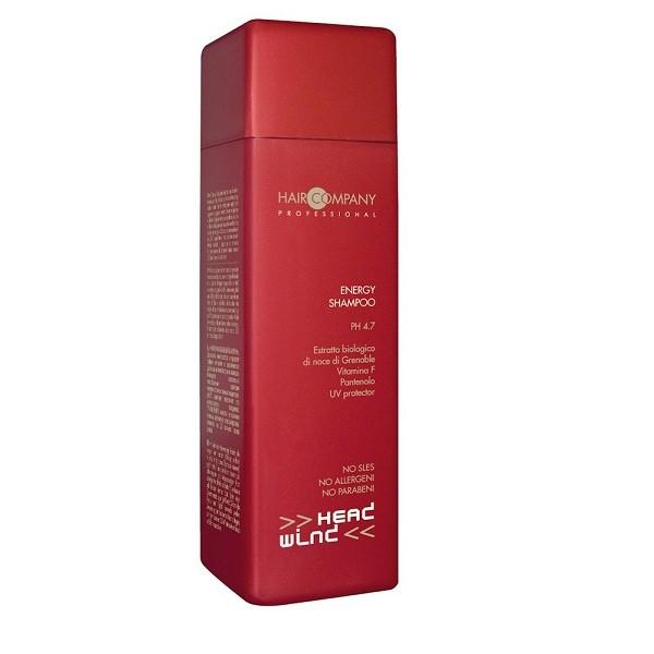 Hair Company Энергетический шампунь Head Wind Energy Shampoo 250 мл503535Энергетический шампунь Hair Company Head Wind Energy Shampoo эффективное и щадящее моющее средство. Возвращает волосам жизненный тонус, придает блеск и эластичность. Защищает от потери красящих пигментов под воздействием УФ-лучей. Идеальное средство для волос, поврежденных в результате механической или химический обработки.