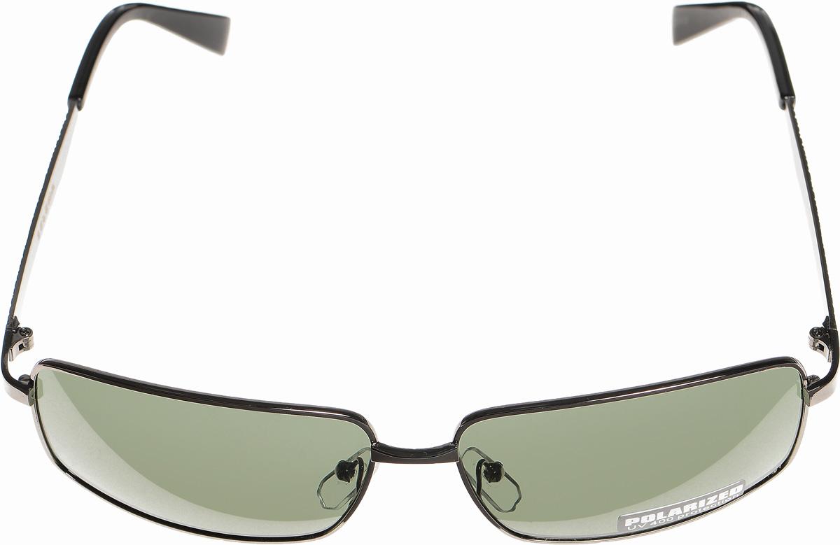 Очки солнцезащитные женские Selena, цвет: зеленый, темно-серый. 80032941BM8434-58AEСолнцезащитные женские очки Selena выполнены из металла с элементами из высококачественного пластика. Дужки оформлены декоративной резьбой напоминающей кажу рептилии.Линзы данных очков с высокоэффективным фильтром UV-400 Protection обеспечивают полную защиту от ультрафиолетовых лучей. Используемый пластик не искажает изображение, не подвержен нагреванию и вредному воздействию солнечных лучей.Такие очки защитят глаза от ультрафиолетовых лучей, подчеркнут вашу индивидуальность и сделают ваш образ завершенным.