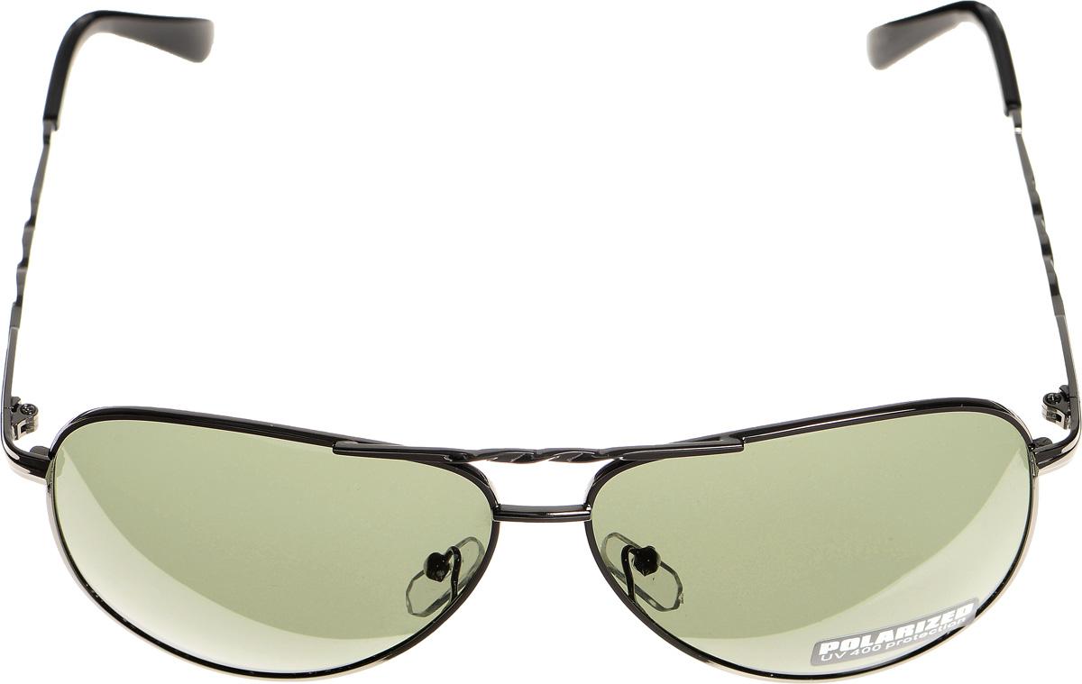 Очки солнцезащитные женские Selena, цвет: зеленый, темно-серый. 80032991BM8434-58AEСолнцезащитные женские очки Selena выполнены из металла с элементами из высококачественного пластика. Дужки и мостик оформлены декоративной резьбой.Линзы данных очков с высокоэффективным фильтром UV-400 Protection обеспечивают полную защиту от ультрафиолетовых лучей. Используемый пластик не искажает изображение, не подвержен нагреванию и вредному воздействию солнечных лучей.Такие очки защитят глаза от ультрафиолетовых лучей, подчеркнут вашу индивидуальность и сделают ваш образ завершенным.