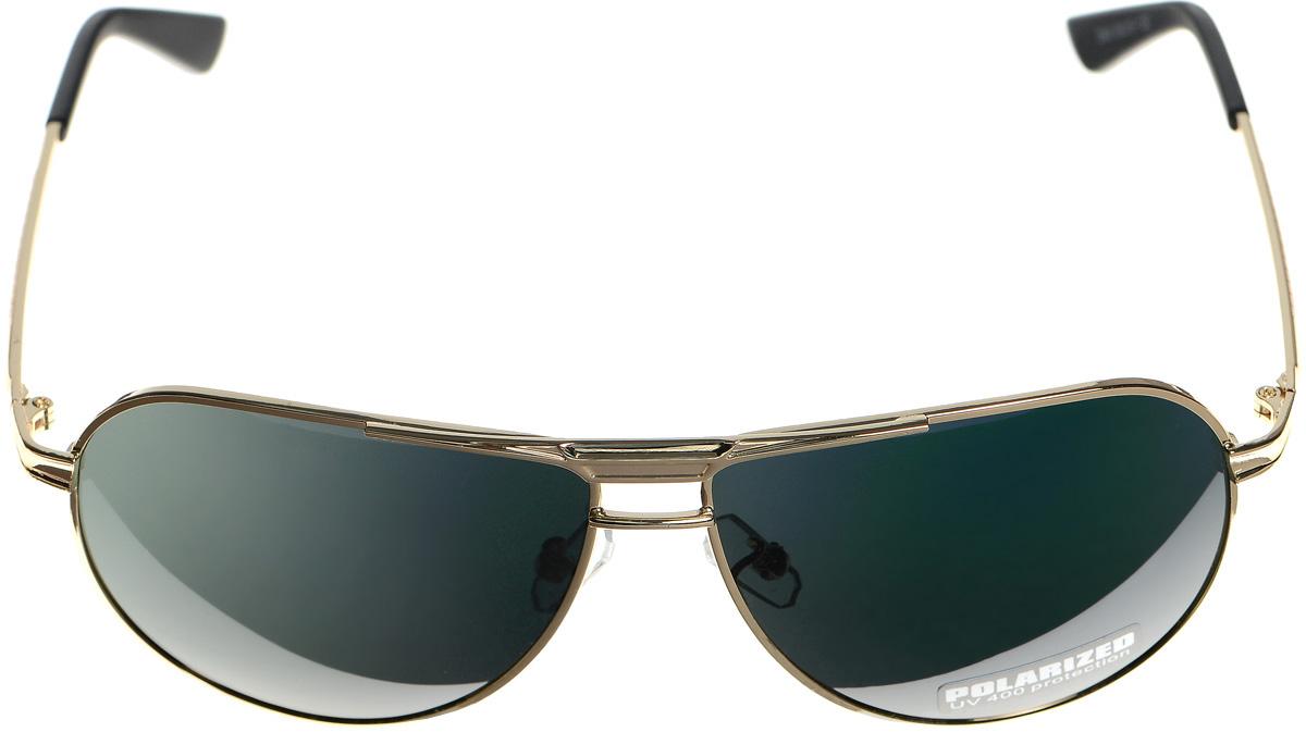 Очки солнцезащитные женские Selena, цвет: зеленый, золотистый, черный. 80033151BM8434-58AEСолнцезащитные женские очки Selena выполнены из металла с элементами из высококачественного пластика. Дужки оформлены декоративной резьбой.Линзы данных очков с высокоэффективным фильтром UV-400 Protection обеспечивают полную защиту от ультрафиолетовых лучей. Используемый пластик не искажает изображение, не подвержен нагреванию и вредному воздействию солнечных лучей.Такие очки защитят глаза от ультрафиолетовых лучей, подчеркнут вашу индивидуальность и сделают ваш образ завершенным.