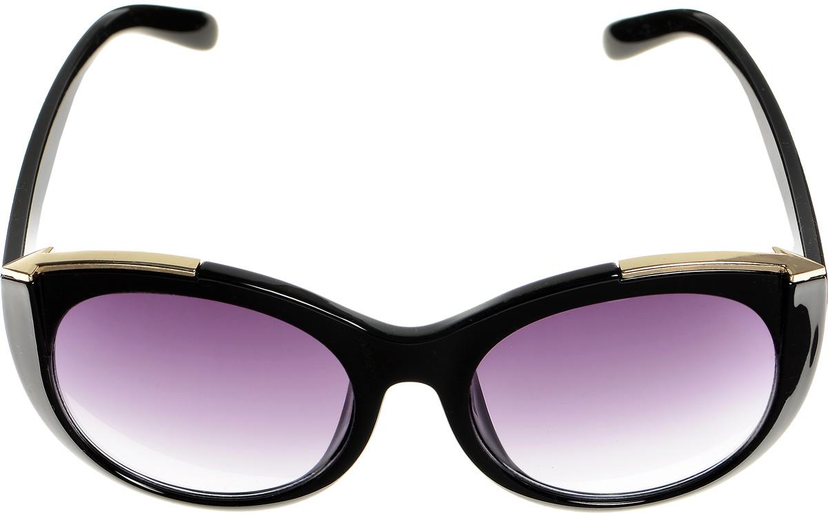 Очки солнцезащитные женские Selena, цвет: черный, золотистый. 80033391INT-06501Солнцезащитные женские очки Selena выполнены из высококачественного пластика и оформлены металлическими вставками.Линзы данных очков с высокоэффективным фильтром UV-400 Protection обеспечивают полную защиту от ультрафиолетовых лучей. Используемый пластик не искажает изображение, не подвержен нагреванию и вредному воздействию солнечных лучей.Такие очки защитят глаза от ультрафиолетовых лучей, подчеркнут вашу индивидуальность и сделают ваш образ завершенным.