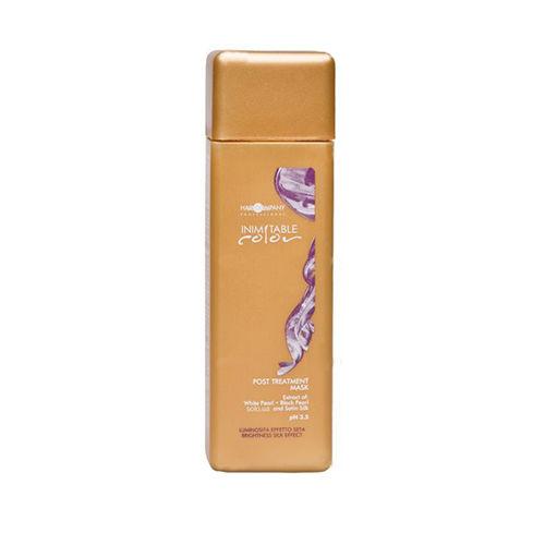 Hair Company Маска стабилизирующая Professional Inimitable Color Post Treatment Mask 250 млFS-00897INIMITABLE Color Post Treatment Mask. Предназначена для восстановления структуры волос, которые повреждены в результате химического воздействия, осветления, окрашивания и выпрямления. Средство обладает мягким рН = 3,5, который способствует полному восстановлению поврежденных окрашенных волос. Экстракты белого жемчуга и шелка, УФ-фильтры и витамин F, входящие в состав средства питают, оздоравливают и укрепляют волосы. Аминокислоты средства обогащают волосы и предотвращают окислительные процессы. В результате применения маски Hair Company Inimitable color post treatment mask делают волосы шелковистыми, блестящими и послушными, волосы защищены от вымывания и выгорания. Возобновляется здоровый гидробаланс волос и кожи головы, приглаживается кутикула. Волосы возвращают свою упругость и силу.