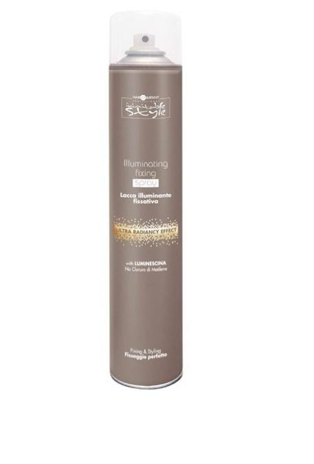Hair Company Фиксирующий лак, придающий блеск Professional Inimitable Style Illuminating Fixing Spray 500 млSatin Hair 7 BR730MNФиксирующий лак HAIR COMPANY INIMITABLE STYLE Illuminating Fixing SprayПридает волосам объем и глянцевый блеск любой прическе. Содержит LUMINESCINE - придает волосам блеск и защищает их от загрязнений. Не содержит хлористый метилен.