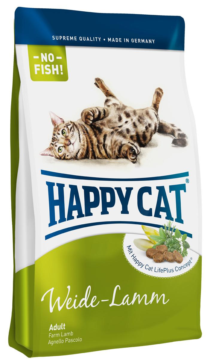 Happy Cat Adult Пастбищный ягненок, для взрослых кошек с чувствительным пищеварением, 4 кг0120710Многие кошки отказываются от кормов на основе рыбы. Adult пастбищный ягненок, изготовленныйбез рыбных компонентовслегко переваримыми протеинамиягненкаиптицы, не дающими лишней нагрузки пищеварительной системе.