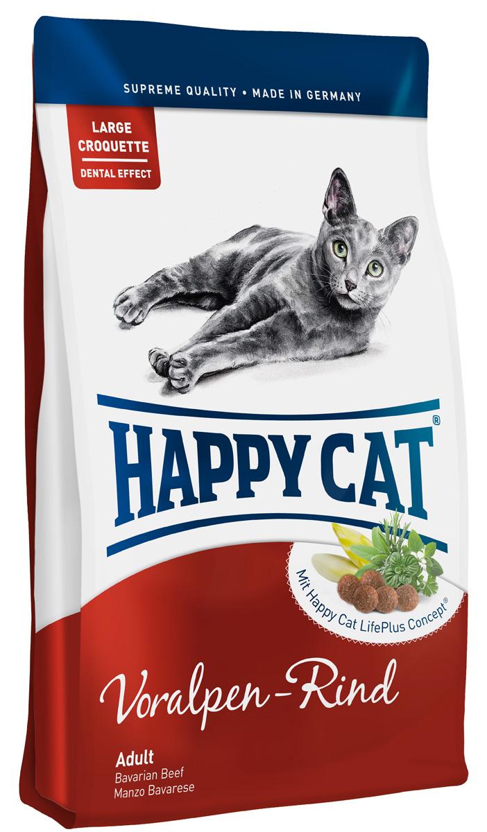 Happy Cat Adult Альпийская говядина, для взрослых кошек с нормальной активностью, 10 кг0120710Happy Cat Adult, альпийская говядина изготовлен без рыбных компонентов, слегко перевариваемыми протеинами говядиныиптицы, не дающими лишней нагрузки на пищеварительную систему. Дополненный уникальнымHappy Cat LifePlus Conceptиз активных натуральных ингредиентов, этот корм -эксклюзивный деликатес для взрослых кошек.