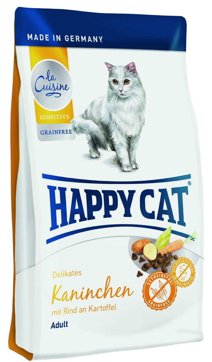 Happy Cat La Cuisine Кролик , говядина с картофелем и морковью, без глютена, 4 кг2366Корм, не содержащий злаков, оптимально подходит для кошек с чувствительным пищеварением. Это легкое лакомство для гурманов производится из эксклюзивного сырья: кролик, говядина , картофель и морковь. Happy Cat La Cuisine Кролик содержит идеальное количество кальция, натрия, фосфора и таурина, и потому, составляет превосходный фундамент для здоровой кошачьей жизни.
