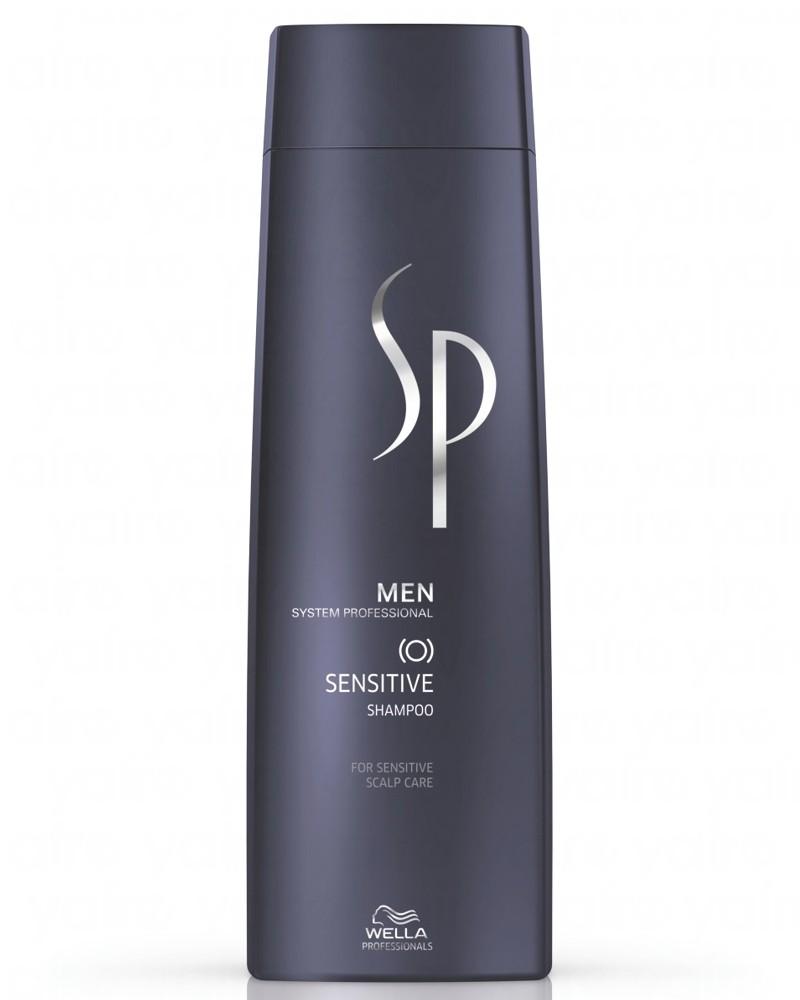 Wella SP Шампунь для чувствительной кожи головы Men Sensitive Shampoo, 250 мл071-91-5433Шампунь для чувствительной кожи головы Sensitive Shampoo бережно очищает кожу головы, восстанавливая естественный кислотно-щелочной баланс. Также средство следит за уровнем увлажненности кожи, смягчает ее и снимает воспаления. Мягкий шампунь подходит для ежедневного использования для кожи головы любого типа, особенно чувствительной. DL-валин успокаивает кожу головы, снимает воспаление, витамины В5, А, Е, F укрепляют волосы, бисаболол уменьшает шелушение и стянутость кожи головы.
