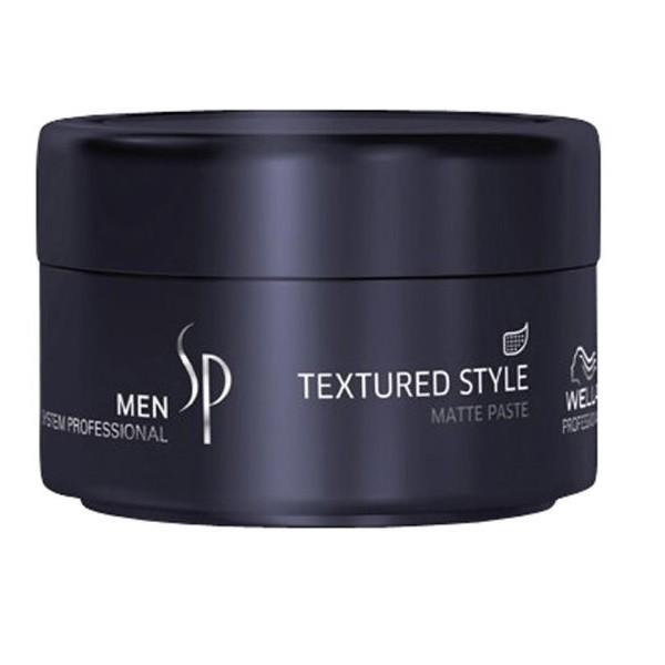 Wella SP Паста для укладки с матовым эффектом Men Textured Style, 75 мл7202079000Паста для укладки с матовым эффектом Textured Style проста в использовании, а ее действие продлится на весь день. Паста наносится на сухие волосы, очень экономична, поскольку имеет густую консистенцию, обеспечивает качественный уход за волосами и устойчивый стайлинг для мужчин. Придает волосам гибкость, матовый эффект, пластичность, прекрасно моделирует волосы, помогая создавать любой стиль укладки. Паста для укладки с матовым эффектом Textured Style быстро высыхает на волосах и особенно подходит для тонких волос.