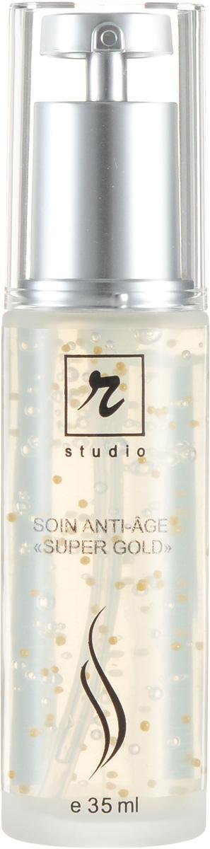 R-studio Anti-age «Super Gold» - Концентрат для лица35 млFS-00897Высокоэффективное средство для специализированного ухода за кожей. с признаками возрастных изменений , Имеет интенсивное, редукцирующее действие против морщин, укрепляет, стимулирует и улучшает тонус кожи, дает омолаживающий эффект, придает коже здоровый, привлекательный цвет и повышает ее потенциал самовосстановления, что замедляет процессы преждевременного старения.