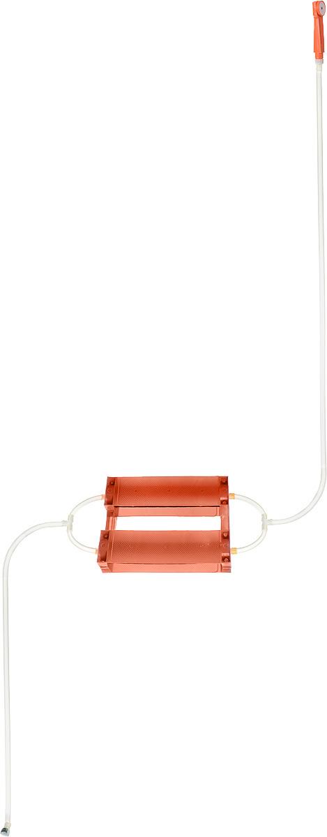Душ портативный Восход-ЛТД Дачник, цвет: оранжевый, черныйKOCAc6009LEDПереносной портативный душ Восход-ЛТД Дачник, выполненный из высококачественного пластика, ПВХ и резины, предназначен для принятия водных процедур в условиях отсутствия водопровода: на участках частных домов, дач, в деревенских банях.Душ состоит из 2-х секционного насоса с корпусом, всасывающего шланга и шланга с лейкой.Особенности: - при хранении и эксплуатации не допускается перегиба шлангов; - рекомендуется хранение душа при комнатной температуре.Размер насоса (с учетом корпуса): 43 х 7 х 7 см.Длина всасывающего шланга: 153 см. Длина шланга (без учета лейки): 198 см.Длина лейки: 17 см.