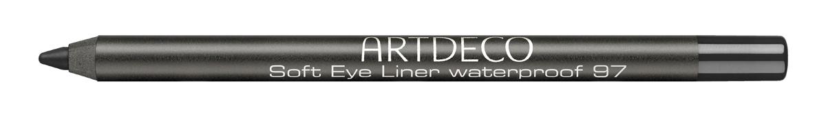Artdeco Карандаш для век водостойкий 97 / черный, 1,2 г.1059N10768Водостойкий мягкий карандаш для глаз - идеальный продукт для особенного повода. С его помощью вечерний макияж сохраняет свою безупречность максимально долго. Контур легко наносится и стойко держится на веках, позволяет создать любые виды стрелок, а также легко растушевывается, если вы хотите добиться эффекта smokey eyes.