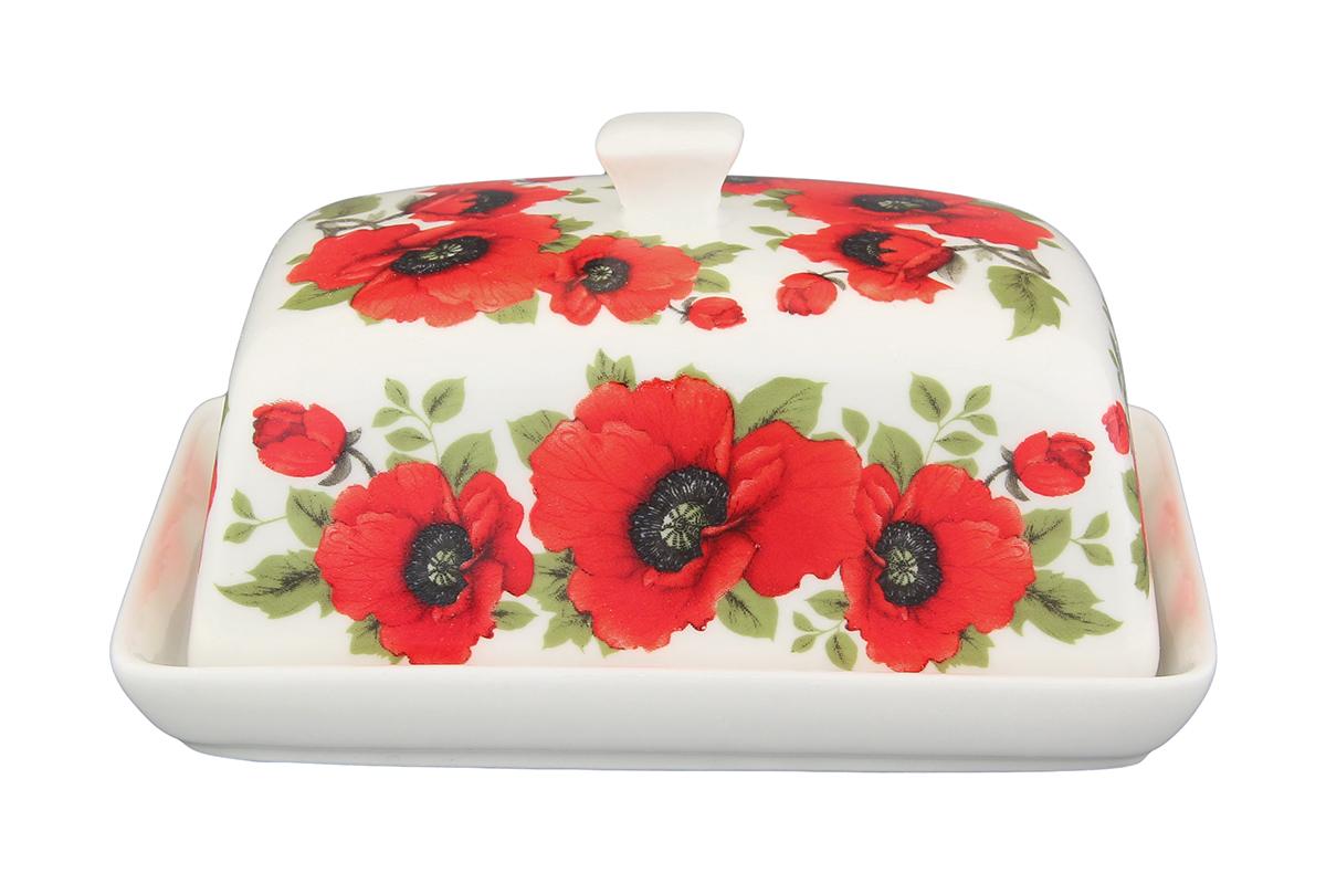 Масленка Elan Gallery Маки115510Великолепная масленка Elan Gallery Маки, выполненная из высококачественной керамики, предназначена для красивой сервировки и хранения масла. Она состоит из подноса и крышки. Масло в ней долго остается свежим, а при хранении в холодильнике не впитывает посторонние запахи.