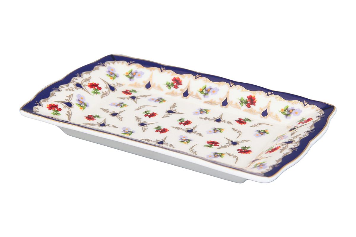 Тарелка под масло Elan Gallery Цветочек, 17 х 10 х 2 см54 009312Изящная тарелочка замечательно подойдет для сервировки масла и нарезки из сыра или мяса. Идеально будет смотреться на праздничном столе.Размер тарелки: 17 х 10 х 2 см.