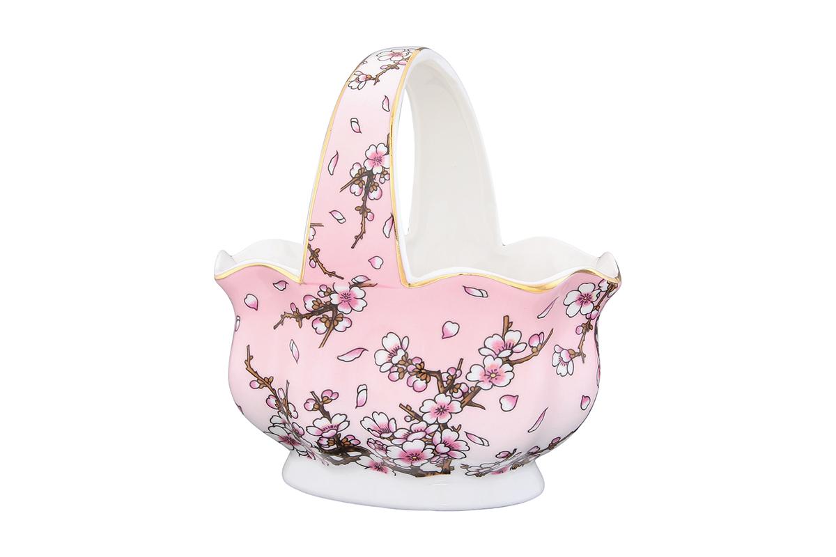 Корзинка Elan Gallery Сакура на розовом, 13,5 х 9,5 х 14 смVT-1520(SR)Корзинка Elan Gallery Сакура на розовом изготовлена из высококачественной керамики с глазурованным покрытием. Изделие декорировано цветами сакуры и золотистой эмалью. Декоративная корзинка может использоваться как конфетница. Она украсит любой интерьер и станет прекрасным подарком для ваших близких! Оригинальный дизайн наполнит ваш дом праздничным настроением.