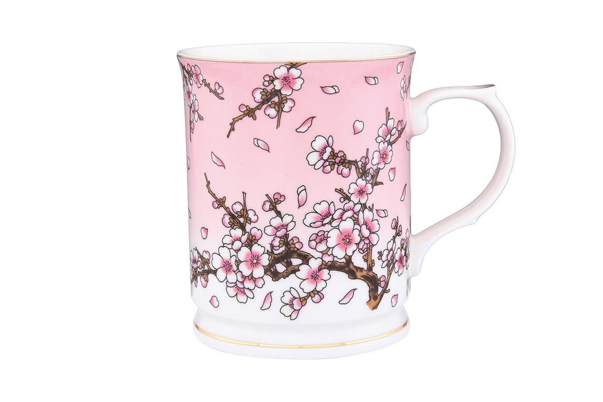 Кружка Elan Gallery Сакура на розовом, 400 мл115510Кружка Elan Gallery Сакура на розовом выполнена из высококачественной керамики и оформлена красочным рисунком. Изделие станет отличным дополнением к сервировке семейного стола, а также замечательным подарком для ваших родных и друзей.Не рекомендуется применять абразивные моющие средства.Объем кружки: 400 мл.