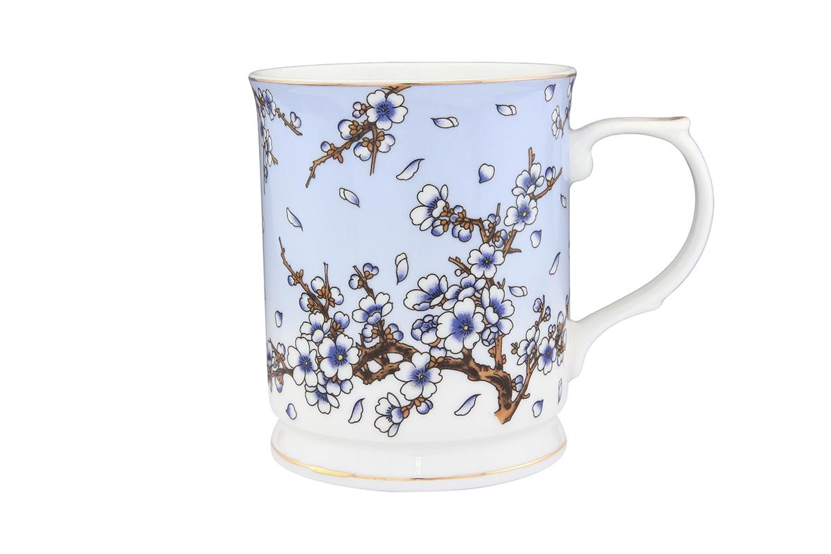 Кружка Elan Gallery Сакура на голубом, 400 мл115510Кружка с замечательным рисунком любителям долгих и душевных чаепитий в компании.