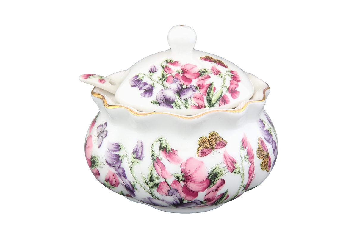 Хреновница Elan Gallery Душистый цветок, с ложкой, 200 мл54 009312Оригинальная хреновница, изготовленная из керамики благодаря красочному дизайну, прекрасно дополнит сервировку вашего стола.