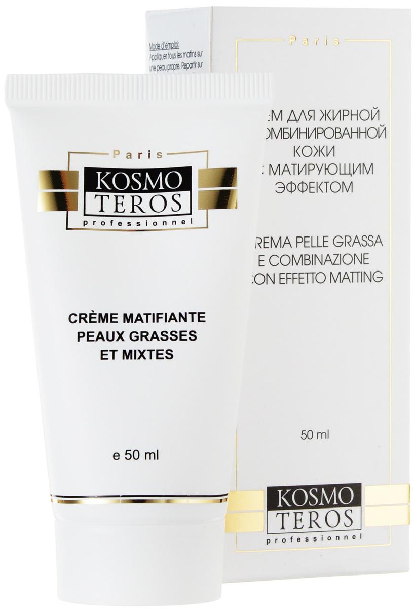 Kosmoteros Крем для жирной и комбинированной кожи с матирующим эффектом Creme Peaux Grasses et Mixtes Effet Matifiante - 50 млBXGRPОбладающий быстрым матирующим эффектом крем устраняет жирный блеск, сокращает поры, абсорбирует кожное сало контролирует баланс себума. Обеспечивает оптимальный уровень обменных процессов в коже, включаясь в механизмы управления выработкой коллагенновых волокон, гиалуроновой кислоты и других компоненотов дермы, восстанавливая ее гидратацию и препятствуя трансэпидермальным потерям воды. Ухоженная кожа приобретает гладкость и матовость. Основные активные компоненты: Hyasealon 1, 2%, Evermat5, 0% Matipure 2, 0%, масло ши, витамин Е. Показания к применению: для ухода за жирной и комбинированной кожей. Великолепная база под макияж.