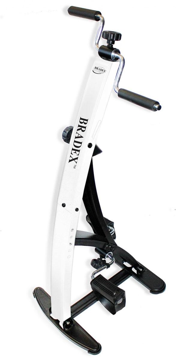 Тренажер педальный Bradex Дуал Байк, для ног и рук0003954Тренажер педальный для ног и рук Bradex Дуал Байк- это компактный и удобный кардиотренажер прямо у вас дома. Преимущества товара: - Обеспечивает качественную нагрузку на мышцы рук и ног; - Помогает обогатить кровь кислородом и избавиться от лишних сантиметров; - Оснащен счетчиком потраченных за тренировку калорий, совершённых оборотов и дистанции, таймером.
