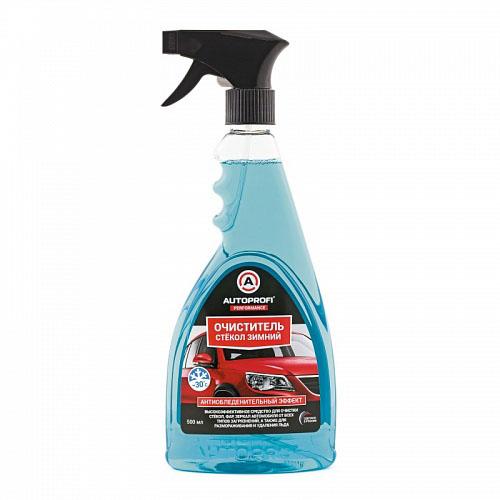 Зимний очиститель стекол Autoprofi, с эффектом антиобледенения, 500 млCA-3505Высокоэффективное средство для очистки стекол, фар, зеркал автомобиля от всех типов загрязнений, а также для размораживания и удаления льда. Специально разработанный морозоустойчивый состав эффективен для размораживания и удаления льда, инея со стекол, лакокрасочного покрытия автомобиля, резиновых и пластиковых деталей. При регулярном применении значительно замедляет процесс обледенения. Безопасен для лакокрасочного покрытия, резиновых, пластиковых и хромированных деталей. Способ применения: встряхнуть флакон, нанести состав на обрабатываемую поверхность. Дать ему подействовать. Протереть мягкой сухой тканью. При сильных загрязнениях или наледи повторить процедуру. Хранить в сухом проветриваемом месте при температуре от -30°С до +50°С.