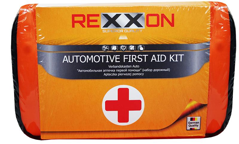 Аптечка первой помощи автомобильная REXXON, в чехле на молнии бинт стерильный 14 см х 7 м экстра плюс высокой плотности
