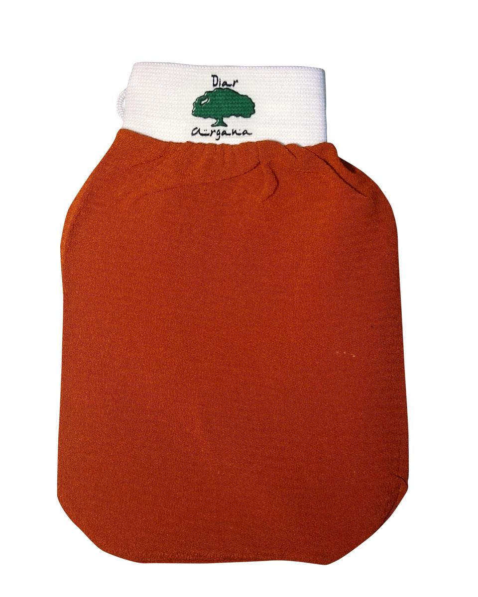 Дом Арганы Рукавица Кесса, цвет: оранжевый66628Рукавица Кесса используется в традиционной процедуре марокканского хаммама в качестве гомажа (пилинга). Благодаря уникальной текстуре рукавица способствуют скатыванию отмершего эпителия, удалению загрязнений и улучшению микроциркуляции кожи. Также подходит для использования в бане и ванной.