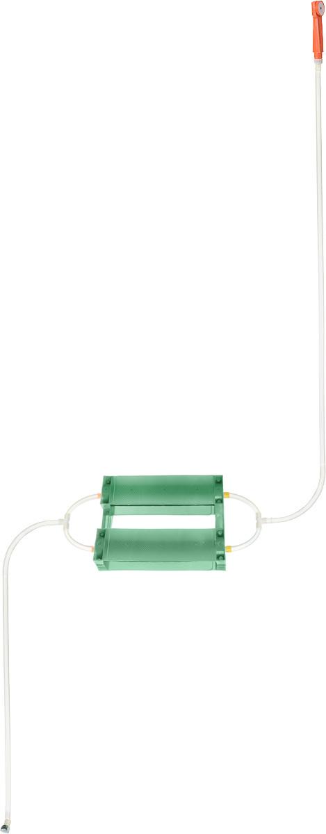 Душ портативный Восход-ЛТД Дачник, цвет: зеленый, оранжевый010-01199-23Переносной портативный душ Восход-ЛТД Дачник, выполненный из высококачественного пластика, ПВХ и резины, предназначен для принятия водных процедур в условиях отсутствия водопровода: на участках частных домов, дач, в деревенских банях.Душ состоит из 2-х секционного насоса с корпусом, всасывающего шланга и шланга с лейкой.Особенности: - при хранении и эксплуатации не допускается перегиба шлангов; - рекомендуется хранение душа при комнатной температуре.Размер насоса (с учетом корпуса): 43 х 7 х 7 см.Длина всасывающего шланга: 153 см. Длина шланга (без учета лейки): 198 см.Длина лейки: 17 см.