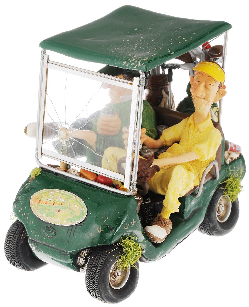 Статуэтка Gillermo Forchino Гольфкар, цвет: желтый, зеленый, высота 18 смFS-80299Статуэтка Gillermo Forchino Гольфкар выполнена вручную из полирезины под контролем автора - Гиллермо Форчино. Изделие упаковано в специальную газету Forchino, имеет фирменный знак и свой уникальный номер. Также к статуэтке приложен сертификат.В комплекте брошюра с яркими иллюстрациями и биографией автора на английском и французском языках, а также 9 фотокарточек его произведений.Статуэтка Gillermo Forchino Гольфкар имеет изысканный внешний вид и станет прекрасным украшением интерьера гостиной, офиса или дома. Вы можете поставить статуэтку в любое место, где она будет удачно смотреться и радовать глаз.