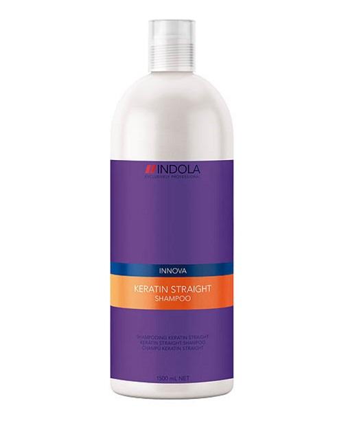 Indola Кератиновое выпрямление шампунь Keratin Straight Shampoo – 1500 млFS-00897Indola Innova Keratin Straight - Шампунь для выпрямления волосДанный очищающий шампунь необходимо использовать как 1 из 5 шагов процедуры керативного выпрямления волос. Благодаря новой формуле, содержащией Кератин-полиер, волосы покрываются защитной оболочкой, которая помогает их выпрямить и не дает завиться.При применении всего комплекса кератинового выпрямления волос из 5 шагов: Шампунь, Кондиционер, Бальзам, Маска, Масло Indola Вам обеспечены гладкие, прямые волосы, которые будут выглядеть идеально до 2 суток!