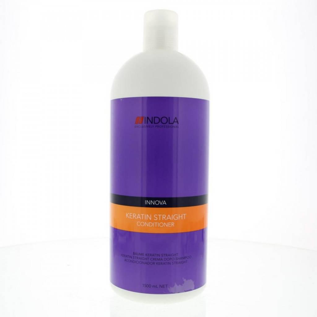 Indola Кератиновое выпрямление кондиционер Keratin Straight Conditioner – 1500 млFS-00897Данный питательный кондиционер необходимо использовать как 2 из 5 шагов процедуры кератинового выпрямления волос Indola Keratin straight. Волосы становятся более послушными, даже самые сложные, вьющиеся и непокорные легко расчесывают.При использовании всего комплекса кератинового выпрямления волос из 5 шагов, состоящего из использования Шампуня, Кондиционера, Бальзама, Маски и Масла Ваши волосы сохранят идеальную гладкость до 48 часов!