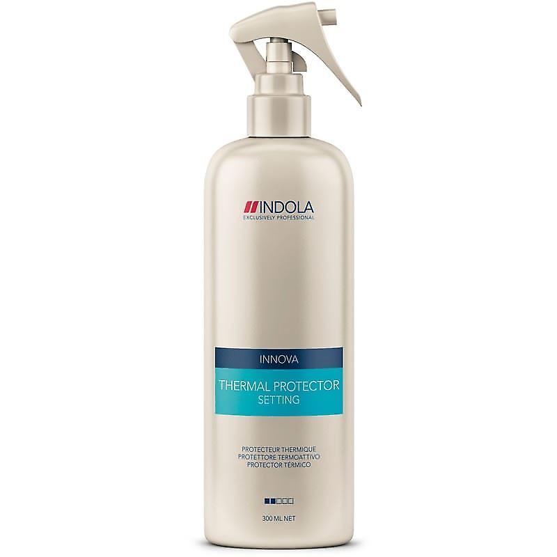 Indola Защитный термоспрей Setting Thermal Protector 300 млAC-1121RDIndola Защитный термоспрей. Содержит экстракты шелка и пшеницы, увлажняет и укрепляет структуру волос, делая акценты на поврежденные участки. Волосы становятся блестящими и гладкими, как шелк. Обеспечивает термозащиту.