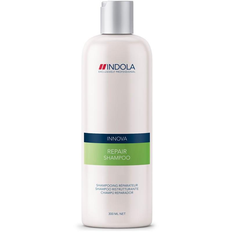 Indola Восстанавливающий шампунь Repair Shampoo 300 мл1508041Indola Восстанавливающий шампунь. Мягко очищает ослабленные, сухие, поврежденные, пористые волосы. Обогащен гидролизованным кератином и протеином сои, которые активно восстанавливают кутикулу, волокна и тело волос, делая их блестящими, сильными и здоровыми. Поддерживает баланс влаги, делает поврежденные волосы послушными и эластичными. Возвращает волосам естественную красоту и блеск. Для поврежденных волос. Рекомендуется использовать в комплексе с продуктами ухода линии Indola Repair.