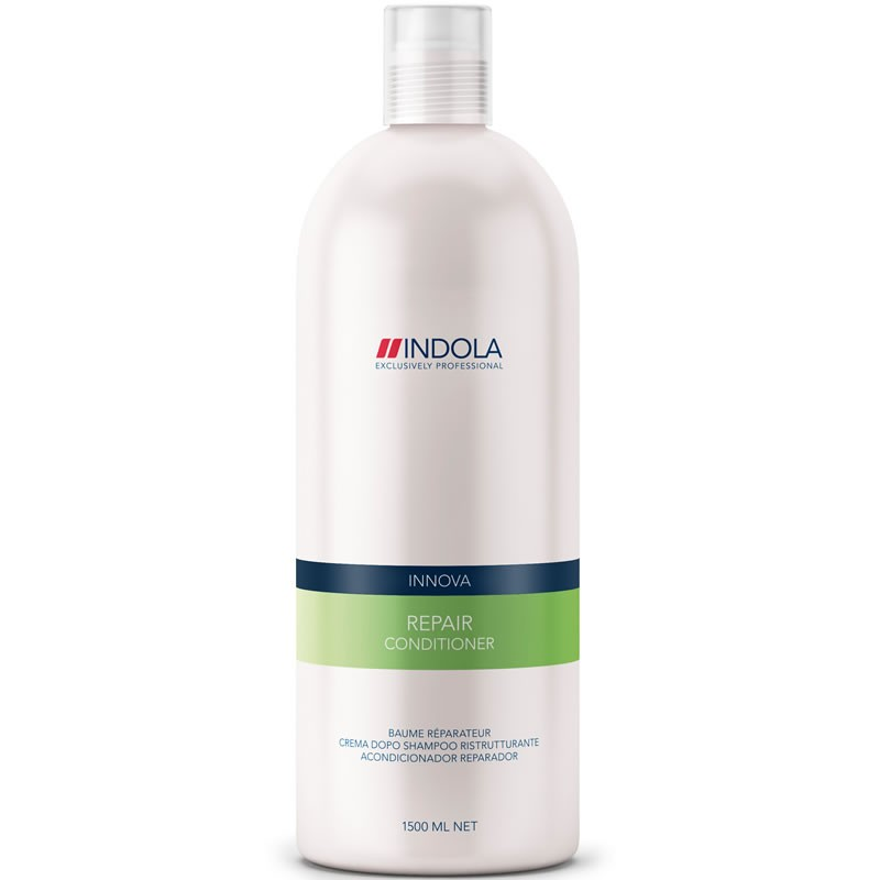Indola Кондиционер восстанавливающий для волос Innova Repair Conditioner - 1500 млFS-00897Indola Innova Repair Conditioner - Кондиционер восстанавливающийКондиционер Indola repair conditioner создан специально для быстрого оздоровления поврежденных волос. Содержит восстановительный комплекс с аминокислотами, провитамином В5 и протеином пшеницы.Насыщает волосы влагой, избавляет от сухости, придает волосам здоровый внешний вид. Волосы становятся эластичными, блестящими и отлично укладываются.Кондиционер восстанавливающий Indola repair conditioner защищает волосы от вредных воздействий.