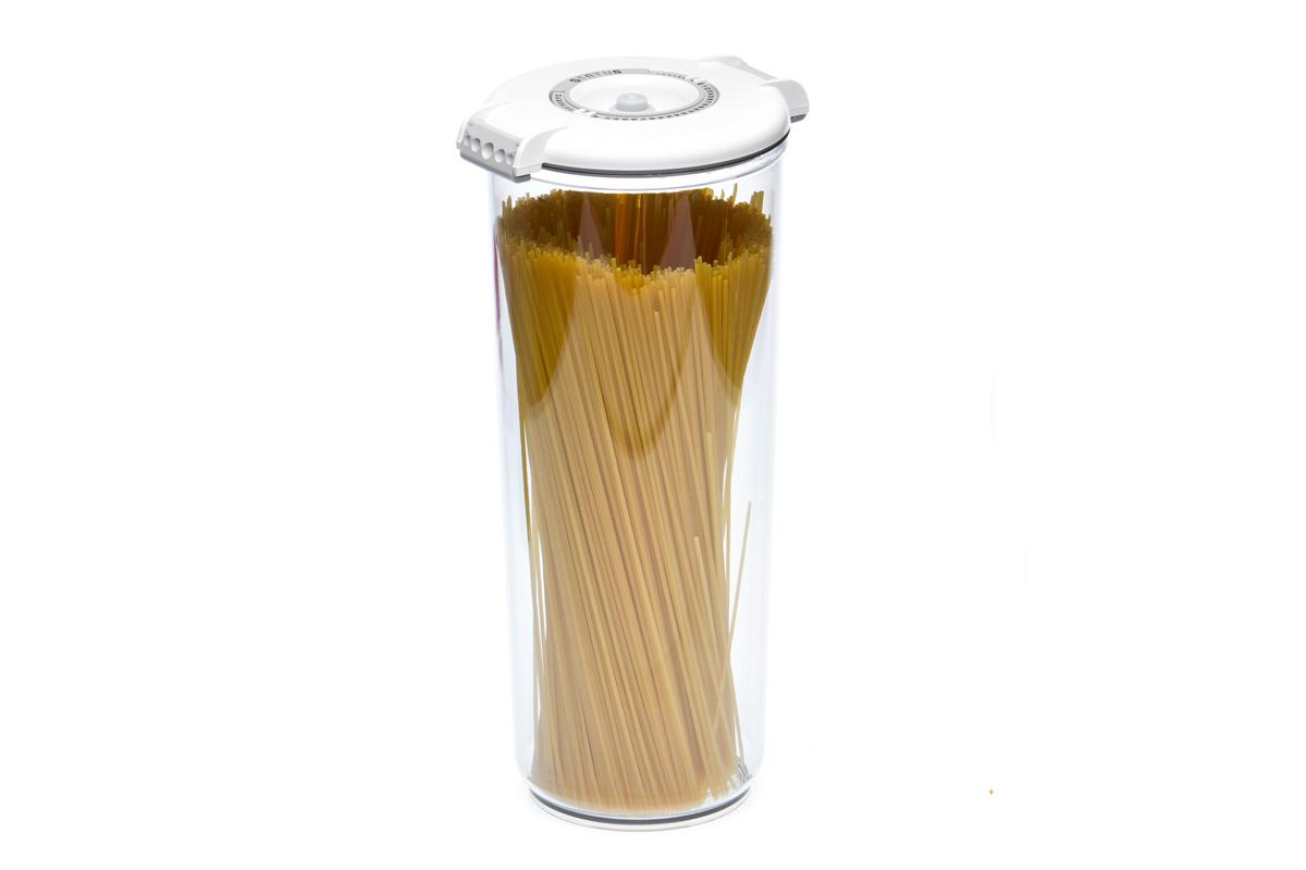 Контейнер вакуумный Status, цвет: прозрачный, белый, 2,5 лFA-5125 WhiteВакуумный контейнер Status рекомендован для хранения следующих продуктов: макаронные изделия, крупа, мука, сухофрукты, супы, соусы.Благодаря использованию вакуумных контейнеров, продукты не подвергаются внешнему воздействию и срок хранения значительно увеличивается. Продукты сохраняют свои вкусовые качества и аромат, а запахи в холодильнике не перемешиваются.Контейнер изготовлен из прочного хрустально-прозрачного тритана. На крышке - индикатор даты (месяц, число).Допускается замораживание (до -21 °C), мойка контейнера в посудомоечной машине, разогрев в СВЧ (без крышки).Объем контейнера: 2,5 л.Размер: 13 х 29,5 см.