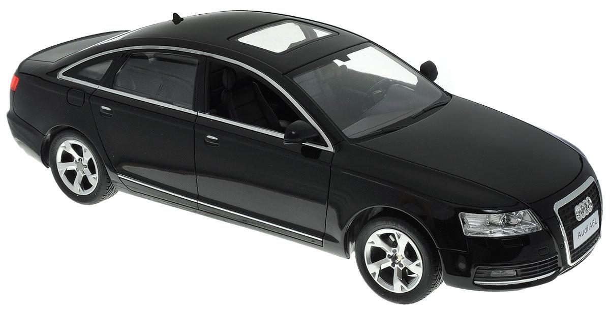 """Радиоуправляемая модель Rastar """"Audi A6L"""" будет отличным подарком как ребенку, так и взрослому коллекционеру. Это авто обладает неповторимым провокационным стилем и спортивным характером. А серьезные габариты придают реалистичность в управлении. Маневренная и реалистичная уменьшенная копия """"Audi A6L"""" выполнена в точной детализации с настоящим автомобилем в масштабе 1:14. Управление машинкой происходит с помощью пульта. Машинка двигается вперед и назад, поворачивает направо, налево и останавливается. Имеются световые эффекты. Колеса игрушки прорезинены и обеспечивают плавный ход, машинка не портит напольное покрытие. Радиоуправляемые игрушки способствуют развитию координации движений, моторики и ловкости. Ваш ребенок будет играть с моделью, придумывая различные истории и устраивая соревнования. Порадуйте его таким замечательным подарком! Машина работает от 5 батареек напряжением 1,5V типа АА (не входят в комплект). Пульт управления..."""