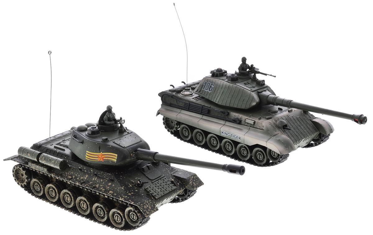 Пламенный мотор Набор танков на радиоуправлении Т-34 vs King Tiger