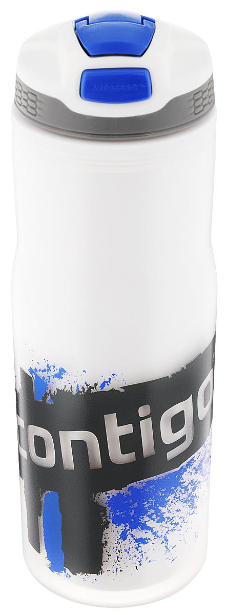 Бутылка для воды Contigo Devon Insulated, цвет: белый, синий, серый, 650 млVT-1520(SR)Бутылка для воды Contigo Devon Insulated изготовлена из высококачественного пластика, безопасного для здоровья. Закручивающаяся крышка с герметичным клапаном для питья обеспечивает защиту от проливания. Оптимальный объем бутылки позволяет взять небольшую порцию напитка. Она легко помещается в сумке или рюкзаке и всегда будет под рукой. Такая идеальная бутылка небольшого размера, но отличной вместимости наполняет оптимизмом, даря заряд позитива и хорошего настроения. Бутылка для воды Contigo Devon Insulated - отличное решение для прогулки, пикника, автомобильной поездки, занятий спортом и фитнесом. Высота бутылки (с учетом крышки): 22 см.Диаметр дна: 6,5 см.