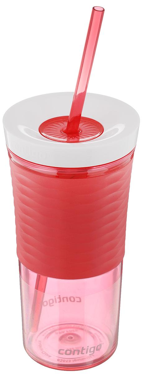 Шейкер Contigo Shake&Go, с трубочкой, цвет: коралловый, белый, 530 млVT-1520(SR)Шейкер Contigo Shake&Go, изготовленный из высококачественного пластика, выполнен в виде стаканчика. Закручивающаяся крышка снабжена отверстием для трубочки (входит в комплект). Шейкер предназначен для холодных напитков и идеально подходит для того, чтобы взять с собой в дорогу воду, морс, смузи, шейк, чай или кофе. Двойные стенки дольше сохраняют напиток холодным. Резиновый ободок на корпусе обеспечивает надежный хват и комфорт во время использования. Вы любитель коктейлей, но времени сходить в бар у вас нет? Не расстраивайтесь. С помощью этого шейкера вы сможете приготовить самый экзотический смешанный напиток у себя дома, чем приятно удивите гостей, родных и близких вам людей. Почувствуйте себя профессиональным барменом! Можно мыть в посудомоечной машине.Диаметр шейкера (по верхнему краю): 7,5 см.Диаметр основания шейкера: 6,5 см.Высота шейкера (с учетом крышки): 17,7 см.Длина трубочки: 25 см.