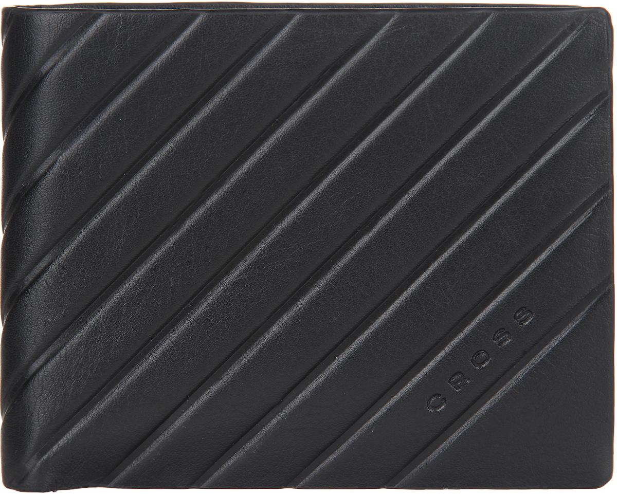 Кошелек мужской Cross, цвет: черный. AC178072-1BM8434-58AEСтильный мужской кошелек Cross изготовлен из натуральной кожи и оформлен декоративным тиснением с символикой бренда.Изделие раскладывается пополам. Внутри расположены два прорезных потайных кармана, два отделения для купюр, четыре кармана для кредитных карт и отделение для монет, закрывающееся клапаном на кноку.Практичный кошелек непременно подойдет к вашему образу, а также порадует простотой, стилем и функциональностью.