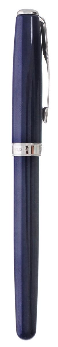 """Ручка Parker """"Sonnet Laque Blue СT"""" с открытым пером, состоит из корпуса, поршневого конвертора и металлического раздвоенного пера. Корпус ручки выполнен из ювелирной латуни с многослойным лаковым покрытием глубокого синего цвета. Отдельные элементы дизайна покрыты никеле-палладиевым сплавом. Перо выполнено из стали с родиевым покрытием и отделано оригинальной гравировкой. Ручка оснащена поршневым конвертором De luxe, снабжена двухканальной системой подачи и сбора чернил. Также возможно использование стандартного чернильного картриджа (входит в комплект). Картридж запаян полиэтиленовой крышкой. Ручка упакована в фирменный футляр с логотипом компании """"Parker"""". В футляре предусмотрено дополнительное отделение, в котором расположен международный гарантийный талон и картридж с чернилами. Эксклюзивная перьевая ручка Parker """"Sonnet Laque Blue СT"""" подчеркнет стиль и элегантность ее владельца и станет превосходным подарком ценителю изящества роскоши. Ручка - это не..."""